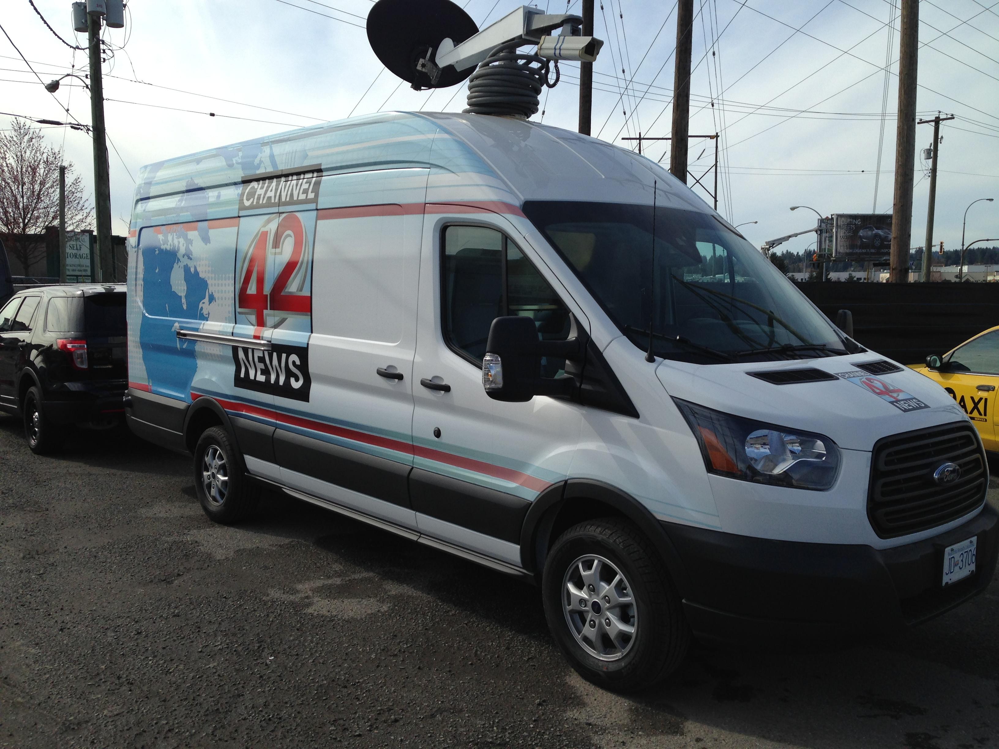 Transit News Van